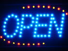 """ADV PRO led001-b Blue OPEN Classic LED Business Neon Signs 13"""" x 9"""""""