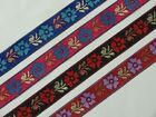 "1.10"" (2.80 Cm) wide By The Yard Jacquard Trim Woven Border Sew Ribbon T816"