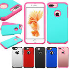 For Apple iPhone 8 & 8 PLUS HARD Astronoot Hybrid Silicone Cover +Screen Guard