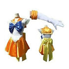 Sailor Moon Mars Sailormoon Costume Anime Cosplay Uniform Fancy Dress Gloves Set
