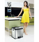 Eko Large Kitchen Food Waste Rubbish Recycle Recycling Separation Pedal Dust Bin