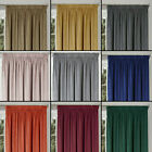 VELOUR MONTREAL LUXURY SOFT HANDLE LINED TAPE TOP PAIR OF NEW CURTAINS