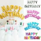 16'' Hanging Happy Birthday Alphabet Balloons Banner Letters Aluminum Film Party