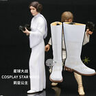 Star Wars Cosplay Princess Leia shoes Halloween White Long boots costom:4