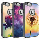 Protection Rugged Hybrid Phone Shell Cover Fit for iPhone 6 Pink Rose Design