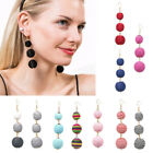 FASHION LADY HANDMADE BALLS DANGLE HOOK EARRINGS PARTY CHRISTMAS EARDROP JEWELRY