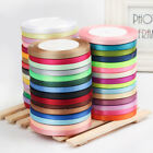 "22 Meters Reel Premium Quality Single Faced Sided Satin Ribbons 6mm 1/4"" Width"