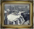 Caillebotte Rooftops in the Snow 1878 Framed Canvas Print Repro 16x20