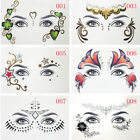 Chic Gold Face Tattoo Sticker Waterproof Fashion Personality Forehead Eye Makeup $5.67 USD