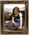 Bouguereau The Crab 1869 Framed Canvas Print Repro 16x20