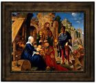 Durer The Adoration of the Magi 1504 Wood Framed Canvas Print Repro 8x10