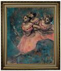 Degas Three Dancers in Red Costume 1896 Framed Canvas Print Repro 20x24