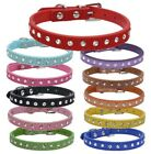 Suede Leather Dog Collar Diamante Puppy Bling Yorkie Teacup Chihuahua & Upwards