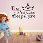 The Princess Sleep Here Wall Stickers For Girls Kids Room Be