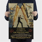 "Retro Film Poster 007 James Bond For Your Eyes Only Wall Sticker Decor 20x14"" $3.99 USD"