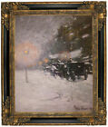 Hassam Winter, Midnight 1894 Framed Canvas Print Repro 16x20