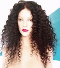 Brazilian or Malaysian Remy Lace Wig Human Hair Black Long Curly Premium Quality