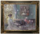 Hassam Improvisation 1899 Framed Canvas Print Repro 20x24
