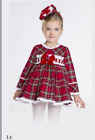 Bea Cadilac tartan baby doll dress BBWT include free headband