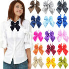 Внешний вид - Women Studern Bow Tie Fashion Ladies Girl Satin Novelty BIG Bow Tie Wedding Gift