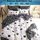 Batman Duvet/Quilt/Doona Cover Set Single King Queen Size Cartoon Pillowcase Set