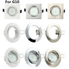 4/8/10/20 Chrome Mains Tilt GU10 Recessed Ceiling Spot Light Downlight Spotlight