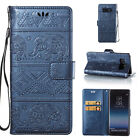 Embossed Genuine Retro Leather Wallet Flip Case Cover For Samsung Note8 Galaxy