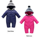 Fashion Toddler Baby Hooded Romper Winter Warm Girl Boy Thicken Outerwear Outfit