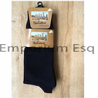 MENS COTTON BLEND ITALIANO COLLECTION BLACK SOCK UK 6-11 NEW UK