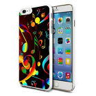 Colourful Musical Notes Design Hard Back Case Cover Skin For Various Phones