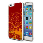 Red Orange Pictorial Design Hard Back Case Cover Skin For Various Phones