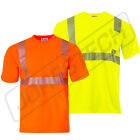 Hi Vis T Shirt ANSI Reflective Safety Short Sleeve HIGH VISIBILITY STRETCH