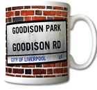 EVERTON FC themed GOODISON PARK Street Sign MUG Toffees PERSONALISE IT FOR FREE