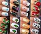 CHRISTMAS NAIL ART STICKERS DECALS WATER TRANSFERS SANTA TAPES SNOWFLAKE SNOWMEN