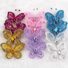 wholesale 20Pcs Mix Color Organza Butterfly Craft Wedding Party Decoration 2''