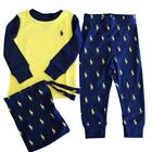 Authenic tRalph Lauren Polo baby boys pyjamas set sleepwear romper 9 12 18 24m