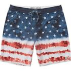 "BILLABONG  Mens 19"" BOARDSHORTS (NEW) Sundays LT Riot USA AMERICA Stars Stripes"