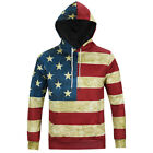 Men Sport 3D Colorful Flag Printed Sweatshirts Hoodie Long Sleeves Fashion 1 Pc