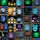 2017 3D Night Lights Octopus Visual 7 Color Changing LED Bedroom Home Lamp Decor
