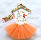 Baby - USA Thanksgiving Kid Baby Girl Jumpsuit Romper Bodysuit Tutu Headband Outfit Set