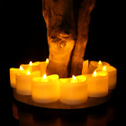 Flameless Candles Lot Set LED Tealight Lights With Timer ...