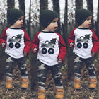 2Pcs Toddler Infant Kid Baby Boy Camouflage Clothes T-shirt Tops+Pant Outfits US