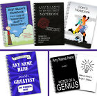 Personalised A5 Softbacked Notebook for him, male, boy, Notepad Wirebound