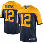 Aaron Rodgers #12 Green Bay Packers Yellow Green Jersey NFL Men's NWT