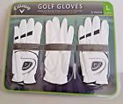 Callaway Golf Gloves Premium Micro-Fiber Synthetic Leather genuine 3 Pack white