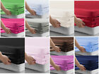 Plain Dyed Elastic Fitted Bed Sheets - Polyester - All UK Sizes Available