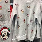Primark Ladies Disney Christmas Jumper Sweater Mickey Minnie Mouse Donald Duck