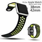 Silicone Sport Band Strap 38mm 42mm Replacement Bracelet For Apple Watch iWatch