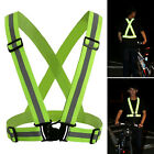 Safety Security Vest Belt Night Running High Visibility Reflective Stripe Jacket