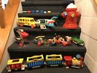 Fisher Price Toys (Lot Of 22) Vintage Plane-Bus-Train-Dog-Helicopter And More